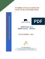 2. Informe de Medición de Ruido Por Sonometría NEPTUNIA SEDE PAITA