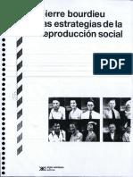 Las Estrategias de La Reproducción Social - Pierre Bourdieu