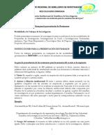 Instrucciones de Presentación de Resumenes Para Publicación XIII Encuentro de Semilleros