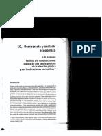 Democracia y Analisis Economico - Buchanan