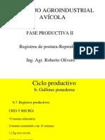 CAI Avicola Fase Productiva II Registros Postura y Reproductores