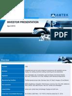 Amtek Investor Presentation April 2015