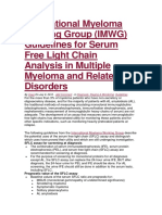 International Myeloma Working Group for Free Light Chain Myeloma