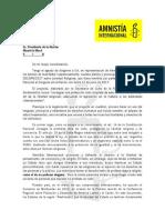 Carta a Macri - Proyecto Libertad Religiosa