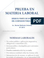 La Prueba en Materia Laboral 07-2013