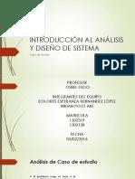 Introducción Al Análisis y Diseño de Sistema