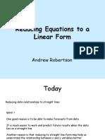 Log Linear Lesson