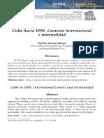 Cuba hacia 1898. Contexto internacional e internalidad