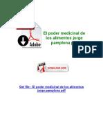El Poder Medicinal de Los Alimentos Jorge Pamplona PDF