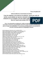 Liste Classement Ecn 20170628