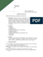 Instrucciones para la propuesta didáctica