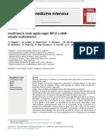 Insuficiencia   renal aguda según RIFLE y AKIN