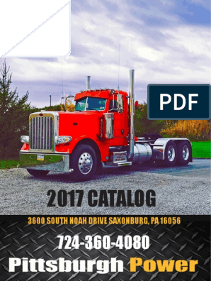 2017 Pittsburgh Power Catalog | Turbocharger | Internal Combustion