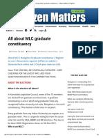 All About MLC Graduate Constituency – Citizen Matters, Bengaluru