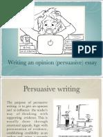 Writing an opinion essay B2+
