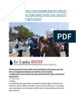 SHRINKING SPACE FOR HUMAN RIGHTS VOICES IN SRI LANKA & CONCERNS OVER CIVIL SOCIETY ENGAGEMENT WITH GOVT.docx
