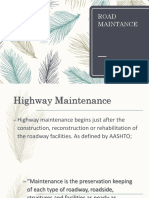 Road Maintance