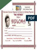 Diplomă Ansamblu Formație Coregrafie DANS POPULAR