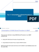 ABAP on HANA Course Material Consuming Stored Procedure Module 8B