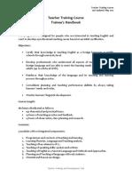 TTC Trainees´ Handbook