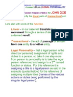 USA Account Science 101 –  Lesson  -  (DUAL) LEGAL PERSONALITY