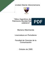 Sitios Argentinos declarados Patrimonio Mundial Natural Por la Unesco