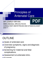Antenatal Principles of Antenatal Care 2017