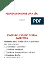 Planeamiento de Una Vía Clase II