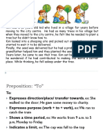 Preposition of, To, For