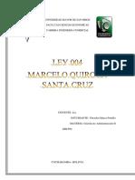 Informe de La Ley 004