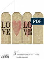 Free Printable Newspaper Love Tags