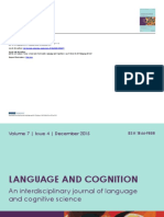 Language and Cognition Volumen  7 Issue 4