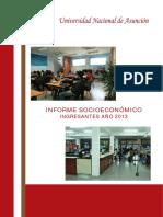 Informe Socio económico Año 2013