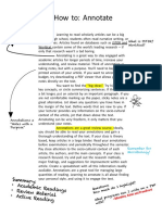 how to- annotate