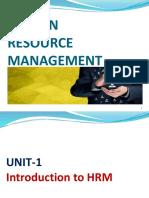 HRM unit 1