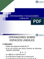 Operadores y Ecuaciones Lineales