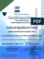 14.- Análisis de Seguridad en El Trabajo- Diana Edith Esquivel Rodríguez