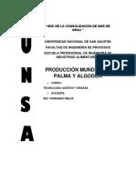Producción Mundial de Palma y Algodón