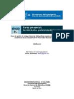 Curso Citas Referencias SINAB-UNAL