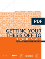 Guide Getting Thesis