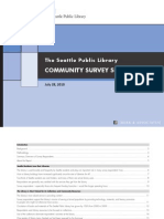Seattle Public Library Community Survey