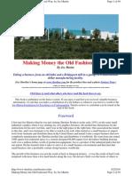 Making Money the Old Fashioned Way-Sherline-Joe Martin