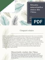 Situatia Minoritatilor Etnice Din China