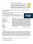 An Experimental Investigation of Mixed Systems of Public and Private Health Care Finance 2012 Journal of Economic Behavior Organization