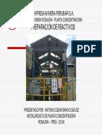 Concentradora Preparacion Reactivos Empresa Minera Perubar