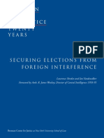 Securing Elections From Foreign Interference