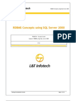 RDBMS Using SQL Server 2000