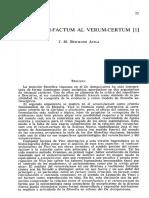 Del Verum-factum Al Verum-certum