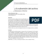 Arte y Subversión del Archivo - A Tello