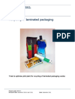 Recycling of Laminated Packaging